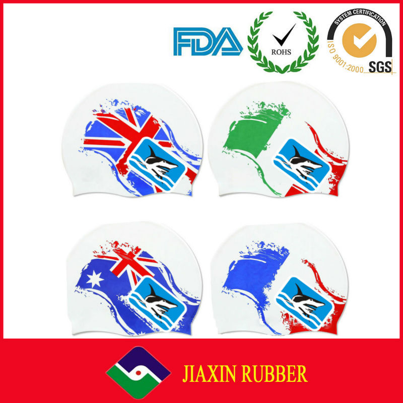 Silicone Material Durable Colorful Waterproof Custom Silicone Swim Caps/Silicone Swim Cap