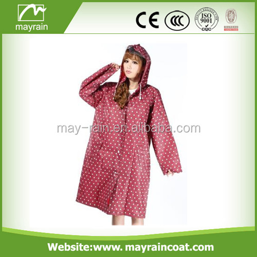 Ladies Raincoat Hooded Pvc Raincoat Girls Poncho Wholesale Fashion Plastic Rain suits