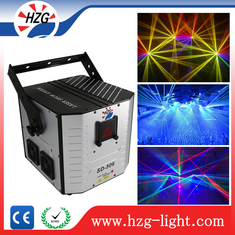 Stage disco laser show lighting 5W RGB laser full color animation dj laser lights for sale