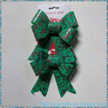 Stage Background Gift Box Decoration Plastic Outdoor Green and Red Glitter Christmas Bow