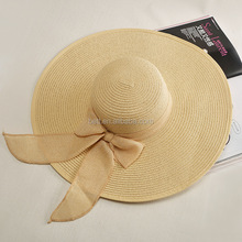 promotional paper straw hat wholesale cheap floppy straw hat