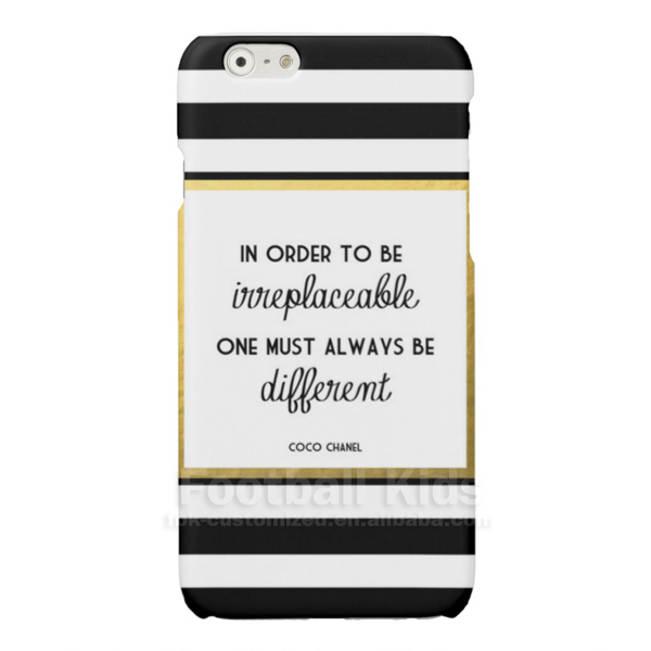 <strong>Hot</strong> !Cocos Gold Irreplaceable Fashion Quote Phone Case Custom for iPhone 7/7 plus