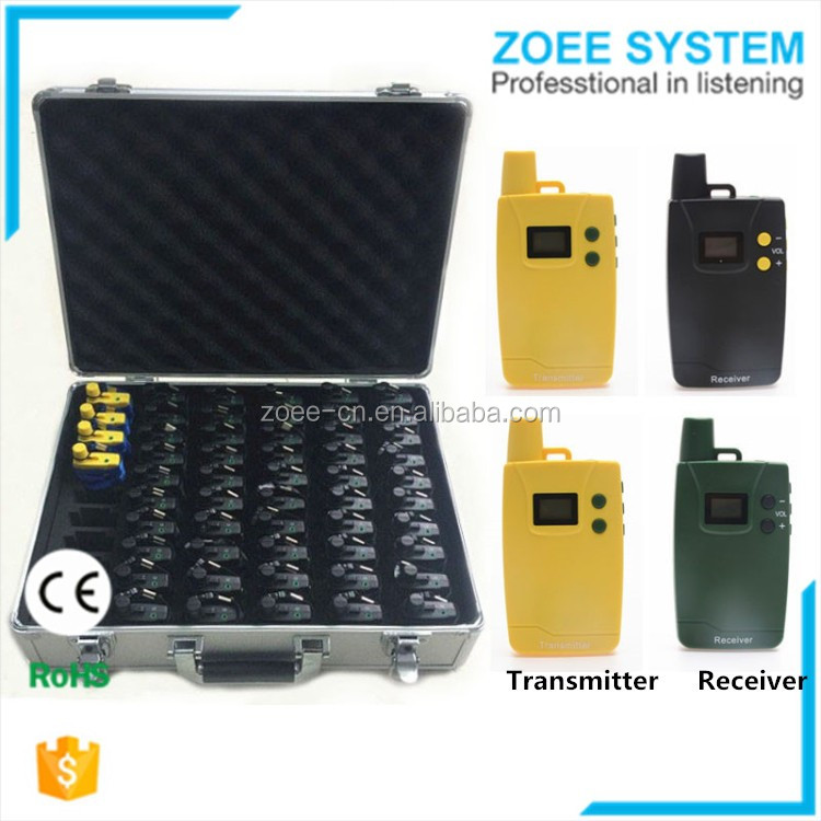 Clear sound Wireless Guide System Equipment, wireless communication equipment for Travel Agency Tour Operator