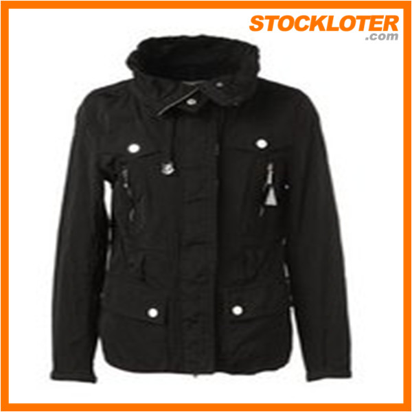 2015 new designed ladies winter padded jacket readymade garment stock lots