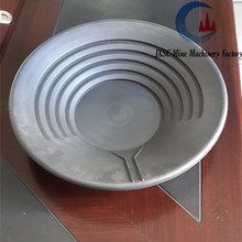 Alluvial diamond pan for placer diamond mining