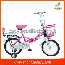 deeply welcome pink color child fold up bicycle