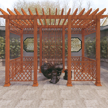 Aluminum Alloy Frame Grape European Style 3D Imitation Wood Grain Trellis
