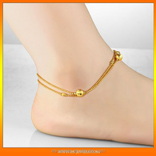 China jewelry factory offer gold plating anklets body jewelry cheap price jewelry gifts