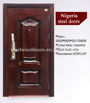 Security Single Front Steel Main Door Design