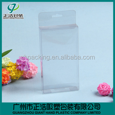 new design PVC Material phone case packaging custom size clear PVC box