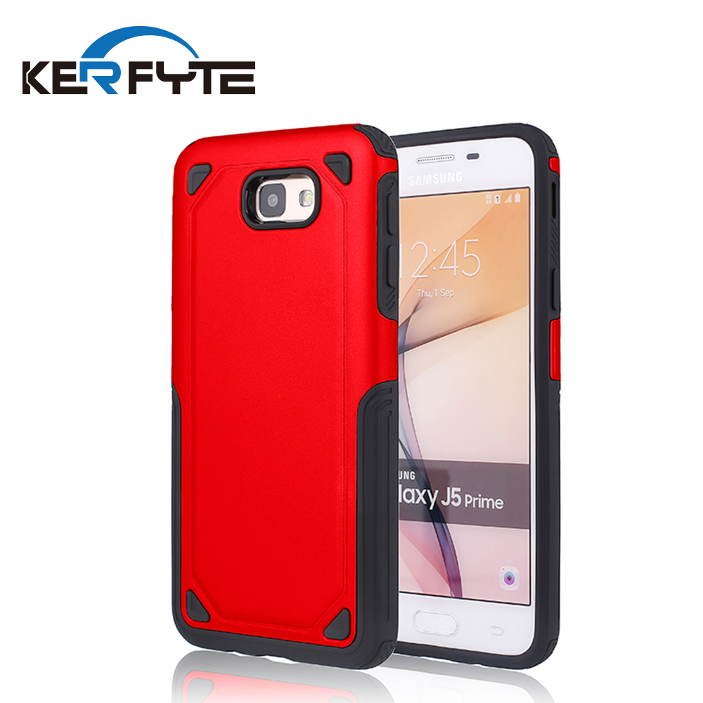 2 in 1 hard pc + soft tpu shockproof hybrid armor mobile back cover phone case for Samsung J5/J7