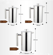 600ml double wall stainless steel unique french coffee press coffee maker