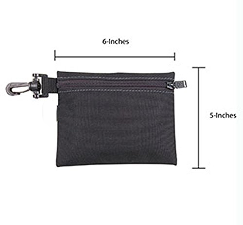 Multi-Purpose Clip-on Zippered Poly Bags 3 Pack tool bag polyester tool pouch zipper bag