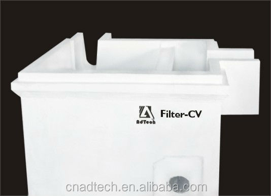 Adtech Molten aluminum purification flow control system filter box