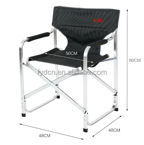 Outdoor durable deluxe aluminium camping folding director chair