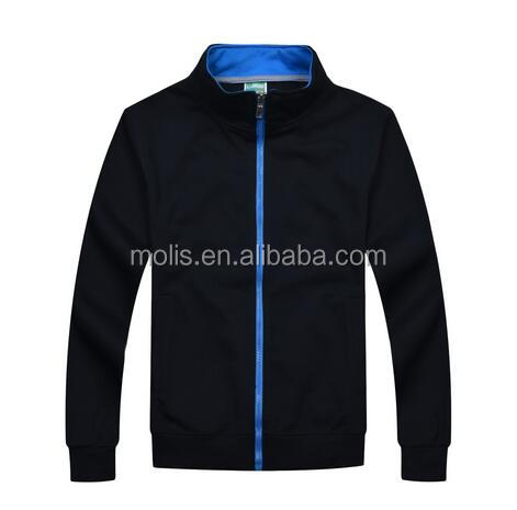 autumn and winter customized LOGO zipper-up stand-up collar sweatershirts