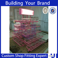 2016 best selling quality Retail shop metal floor candy display stand