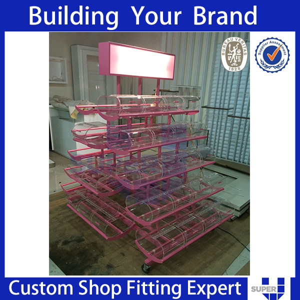 2017best selling quality Retail shop metal floor candy display stand