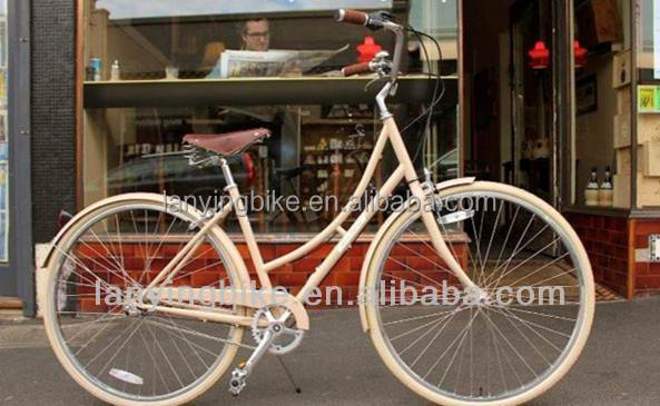 Cream White Vintage style Holland Bicycle/Retro Bicycle/Dutch Bike for sale