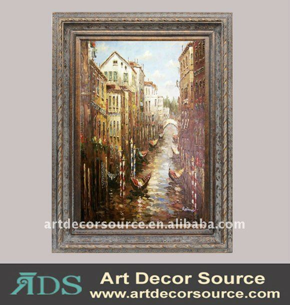 Venice View Oil Painting with Frame