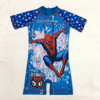 spider man surfing wetsuit one piece kids swimsuit