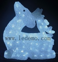 2015 NEW Ourdoor Decoration Xmas Acrylic material Deer led Motif Light