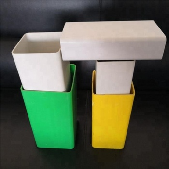 Manufacturers Hot Sales best quality White PVC Plastic Square Pipe