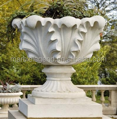 2016 Wholesale Garden and Villa Use Unique Marble Flower Pot