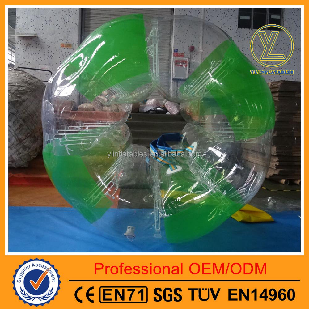 Apple green hot-selling durable inflatable body zorb ball airtight bumper bubble ball for sales