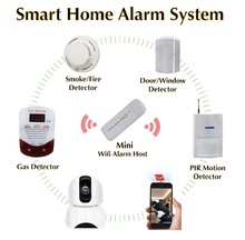 Cloud personal Smart home Wireless WiFi security and camera systems moke gas fire anti-theft burglar detector lowes alarm system