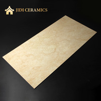 3D inkjet ceramics marble look oman beige ultra glazed porcelain floor thin tile wholesale in 40x80cm