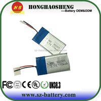 302025 battery 170mah 3.7v lithium polymer single cell for watch