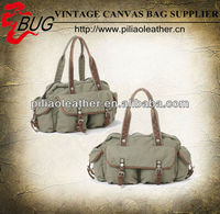 spring summer fashion bag/canvas handbag with multi-pockets