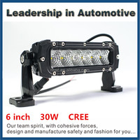 High intensity one row 3W cree led auto lamp led light bar for off road for trucks,CE /ROHS/E-MARK