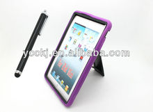 factory price 2014 Fashionable and Multifunctional Hybrid kickstand leather case for ipad mini china alibaba paypal accepted