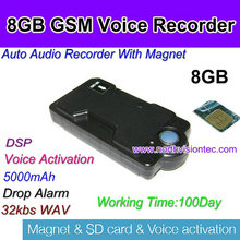 8GB 5000mah digital voice recorder with gsm remote control function