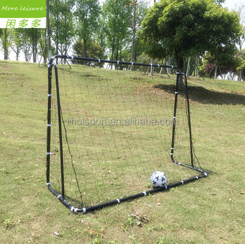 Portable Football Gate black High Grade Steel Pipe Football Goal