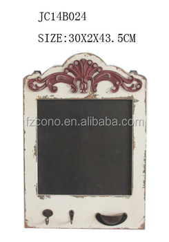 Antique wooden wall frame children mini blackboard with key rack and hook for sale