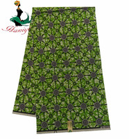 Haniye TNHW-81 green 100% cotton african prints real wax fabric on sale/african ankara real hollnad wax fabric for dress
