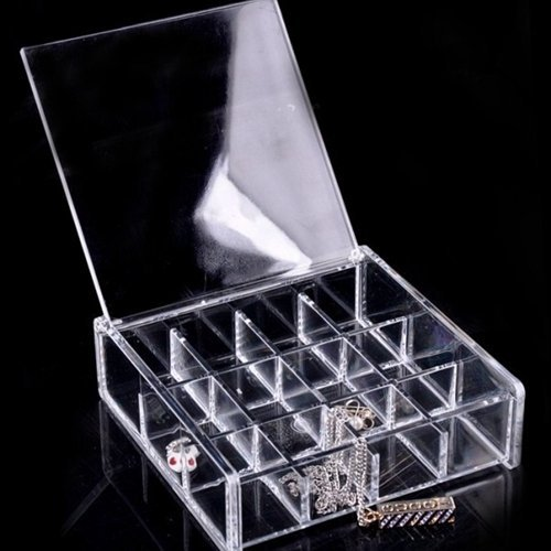 Custom transparent acrylic jewelry box