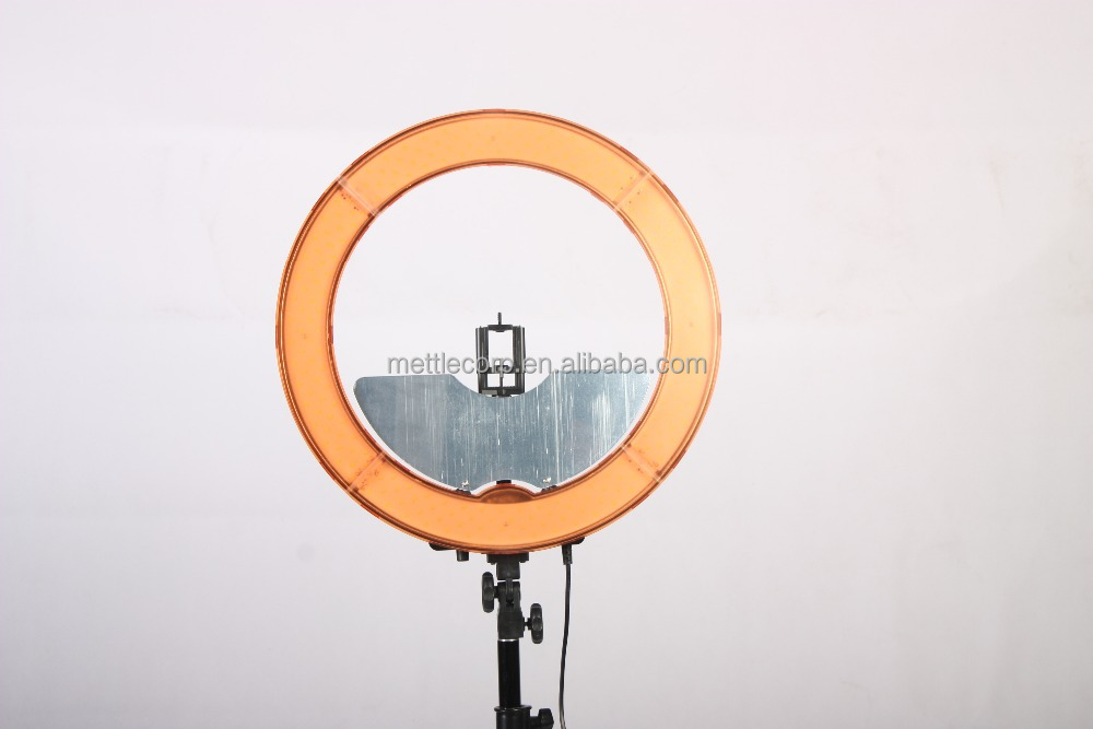 55W 18inch LED ring light for studio and video with mirror