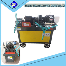 manual cold pressing parallel rebar threading machine for peeling & thread steel bar