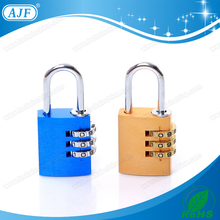 AJF New Arrival top security 3 digits colorful aluminium combination coded lock