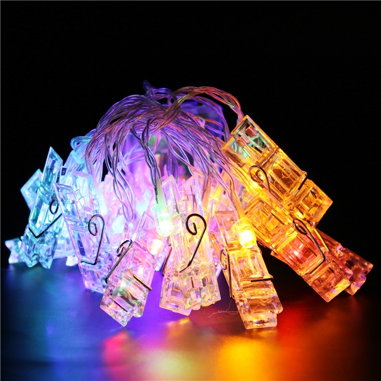 Low Voltage & Safety Holiday Home Decoration Lighting RGBY LED Christmas String Light With Clip Design