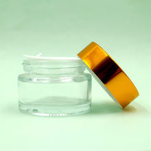 Face skin cream glass container 50ml cosmetic jar copper lid wholesale