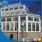 Outlet aluminium sunroom greenhouse skylight system aluminium profile for glass roof