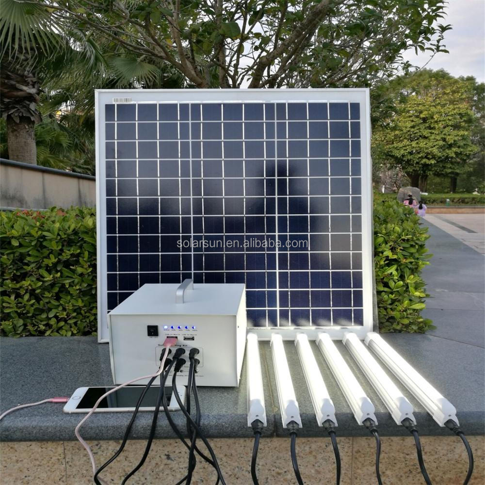 Low price wholesale off grid solar energy system home 40W portable solar power <strong>kit</strong> 220V