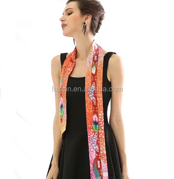 Women multifunctional natural silk square silk scarf silk head scarf