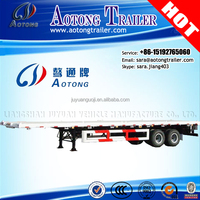 Heavy Duty 40ft Flatbed Semi Trailer with 32 ton boogie top selling in UAE