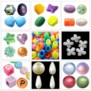 All kinds of Plastic Beads for Jewelry Making